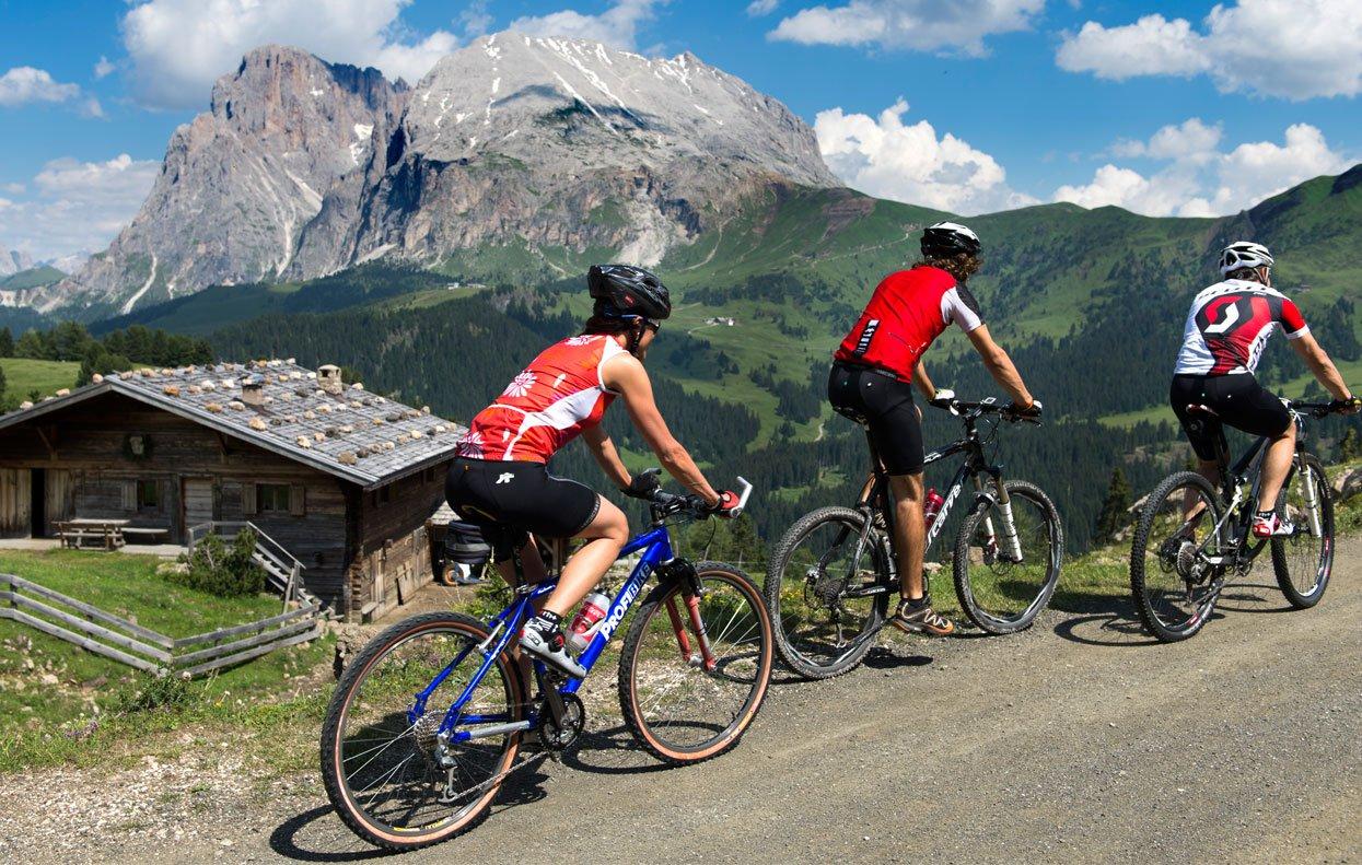 Mountainbike auf der Seiser Alm - ein besonderes Erlebnis