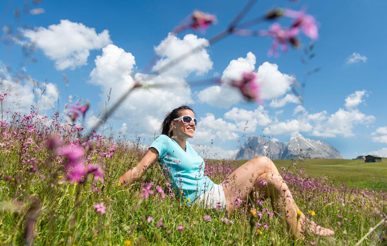 Wandern auf der Seiser Alm bedeutet Urlaub für die Seele