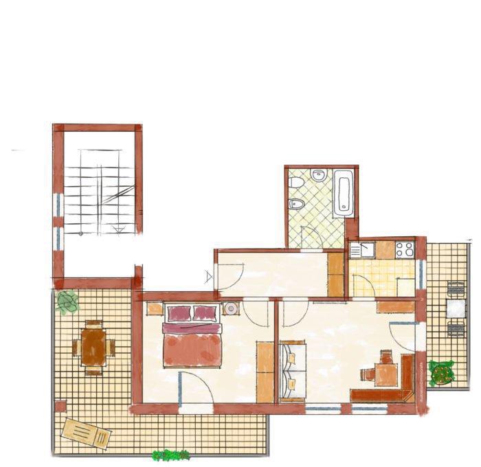 Wg 3 mit Stiegenhaus