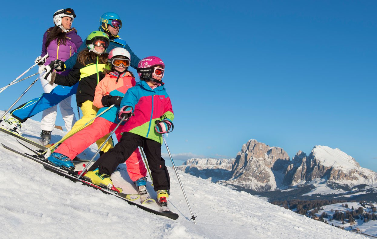 Skiurlaub mit der Familie in Völs am Schlern